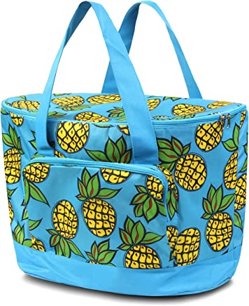 Zodaca Large Pinic Camping Cooler Bag, Pineapple