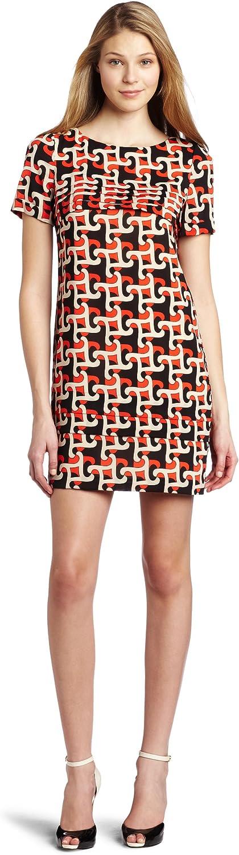 Julie Dillon Women's Short Sleeve Printed Shift Dress