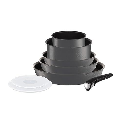 Tefal L6589403 Set de poêles et casseroles - Ingenio 5 Performance Gris 8 Pièces - Tous feux dont induction