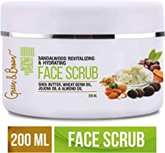 Green & Brown 7in1facescrub Exfoliating and Moisturizing with Sandalwood, Passion Fruit, Grapefruit, Shea Butter, Jojoba Oil and Almond Oil For Men and Women, White, 200 ml