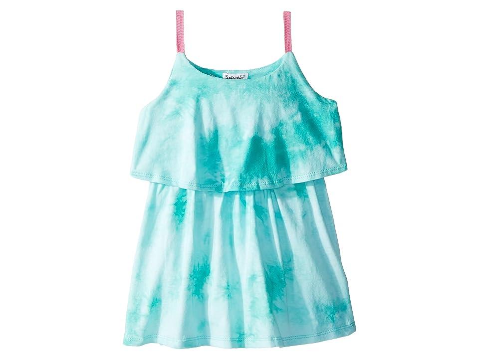 Splendid Littles Cami Dress (Toddler) (Blue Turquoise/Tie-Dye) Girl