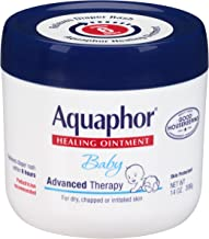 Aquaphor Baby Healing Ointment Advanced Therapy Skin Protectant, 14 Ounce, Pack of 2