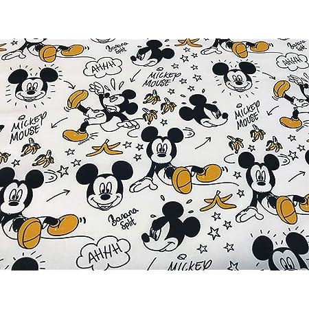 telas de algodon, telas de disney, telas de mickey MICKEY PLATANOS,100% popelina algodón, 1 mts x 140 cms, ENVIOS GRTUITOS, TEXTIL PERTEX