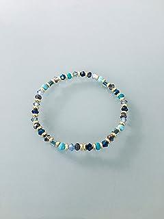 Bracciale da donna perline multicolori e oro Heishi, braccialetto in perline, idea regalo, braccialetto grigio, gioielli r...