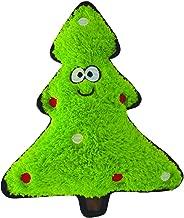 Holly & Robin Christmas Crinkles Tree Plush Dog Toy, Green