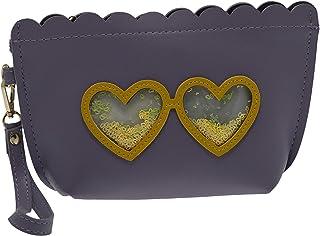 Moving Sequins Heart Make up Bag