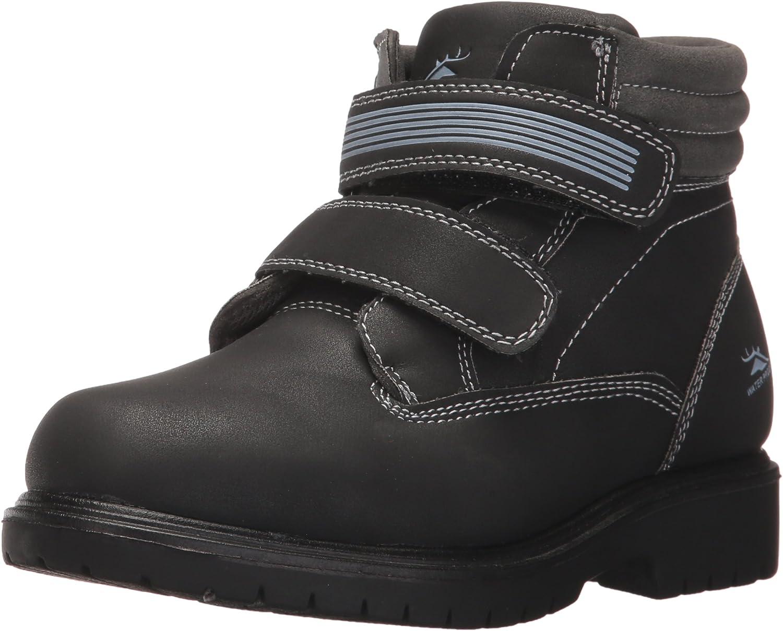 Deer Stags Boys' Marker Hiking Boot, black/grey, 7 Medium US Big Kid