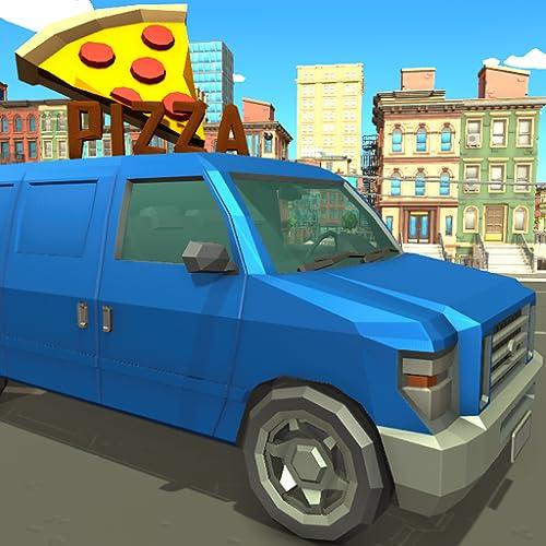 Blocky Pizza Van Sandwich Delivery Simulator 3D