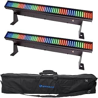 2 Chauvet COLORSTRIP MINI LED Multi-Colored DJ Light Bar Effect Color Strips+Bag