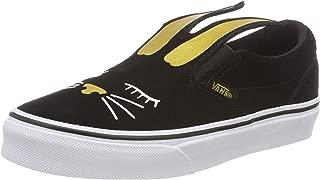 Vans Slip On Bunny Black/Gold Skate Shoes Size 11 Kids