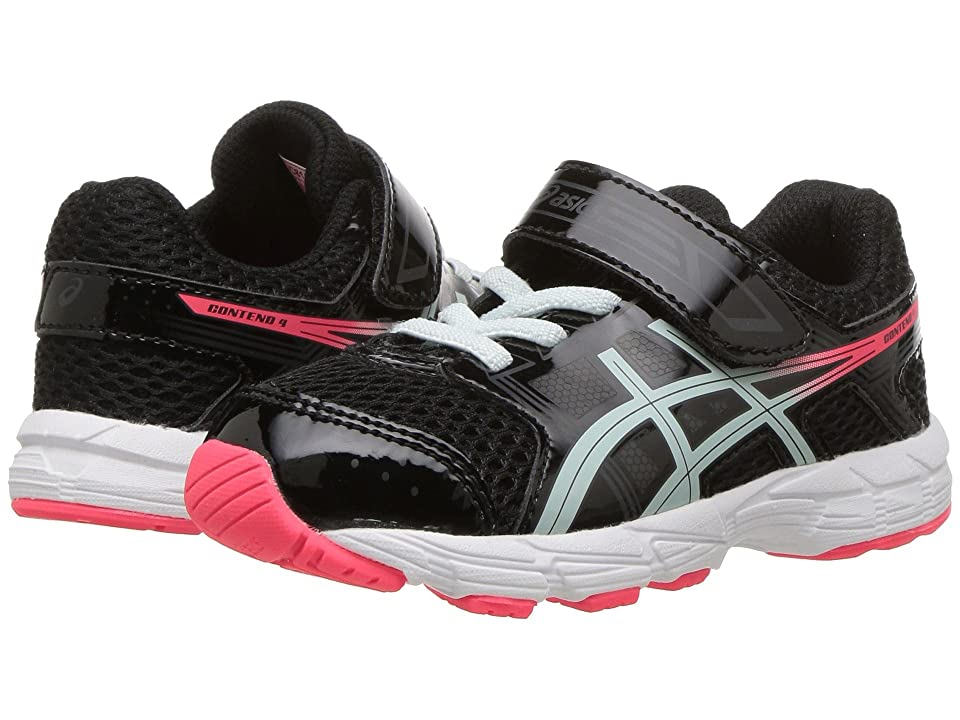 ASICS Kids Pre-Contend 4 TS (Toddler) (Black/Soothing Sea) Girls Shoes