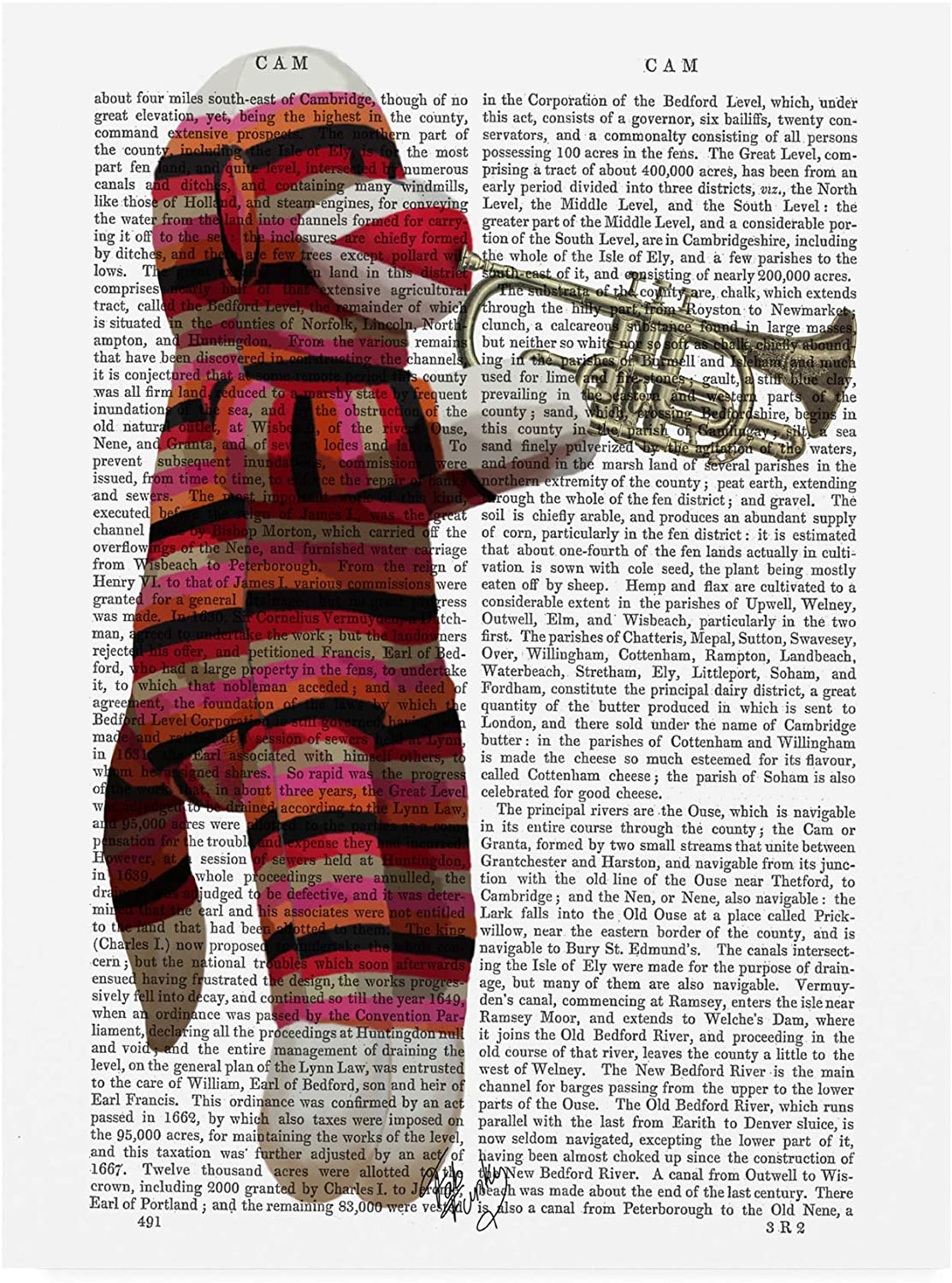 Trademark Fine Art Sock Monkey Playing Trumpet by Fab Funky, 14x19