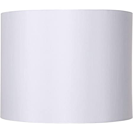 Classic White Drum Lamp Shade Modern Hardback Harp Included 14x14x11 Spider Brentwood Lampshades