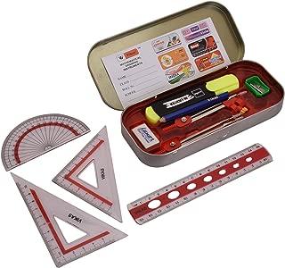 G-Compass My Computer Geometry Kit Pink Mathematical Drawing Instrument Storage Tool Box