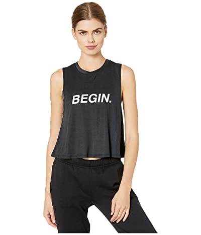 Spiritual Gangster Active Crop Tank (Begin Black) Women