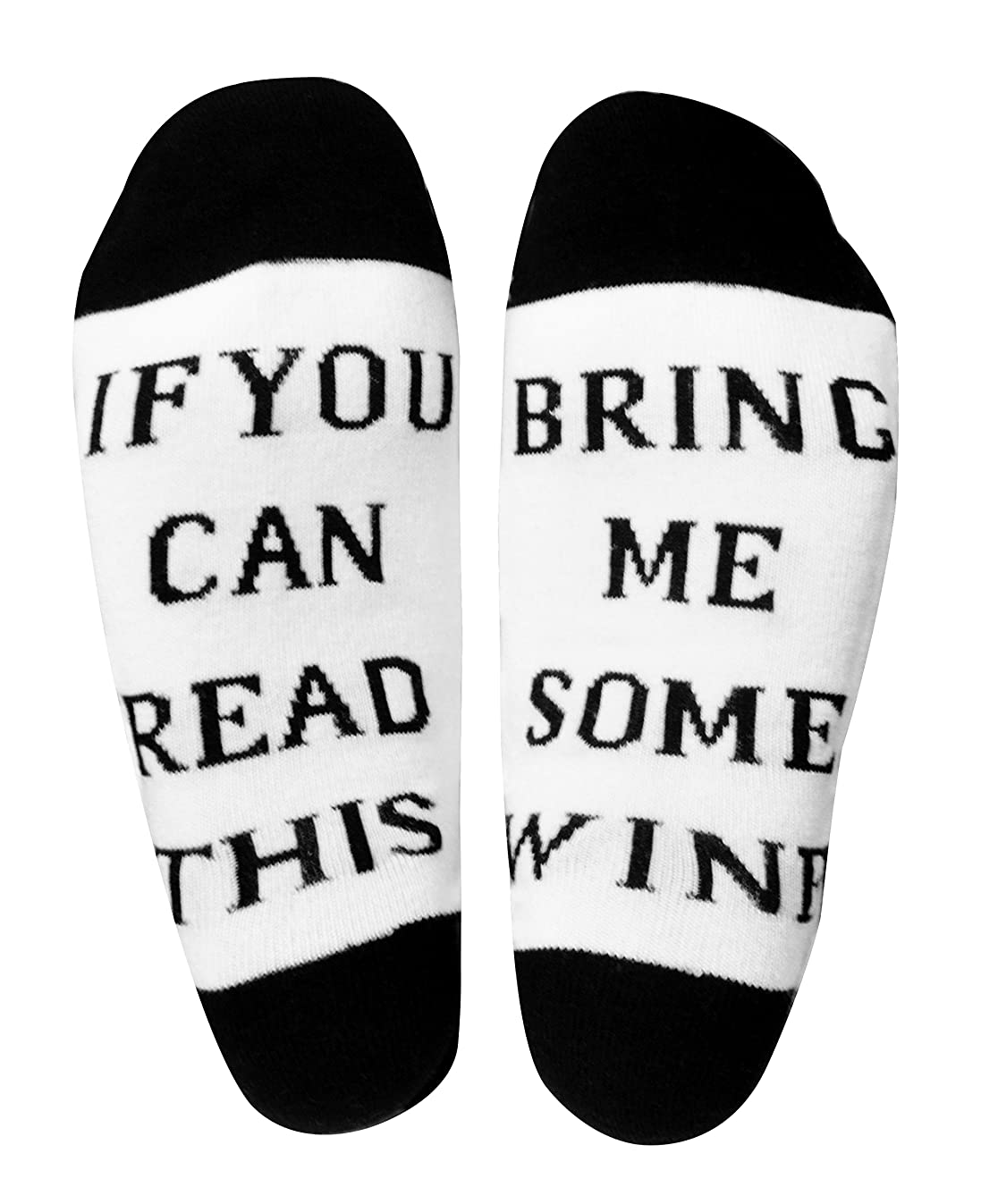Wine Socks Gifts for Mom/Women/Men/Dad/Wife/Her/Wine Lover If You Can Read This Socks Bring Me Some Wine Cotton Novelty Funny Socks Unique Gift Idea for Birthday Hostess Housewarming Mom Gifts (White)