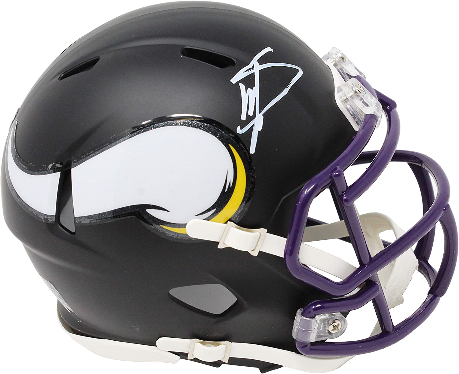 Stefon Diggs Minnesota Vikings Flat Black Matte Riddell Speed Mini Helmet