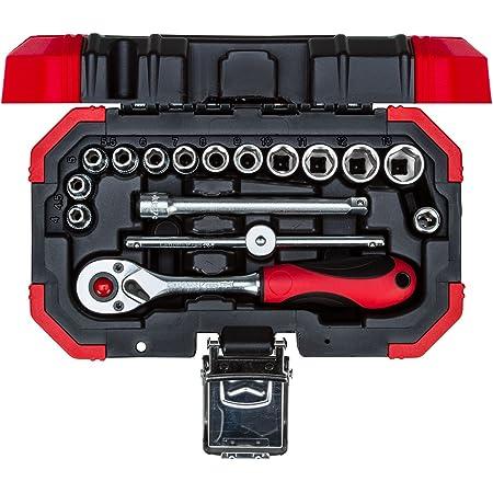 "GEDORE RED R49005023 Bit-Knarren-Satz 1//4/"" mit Bit-Fix-Adapter compact 23-teilig"