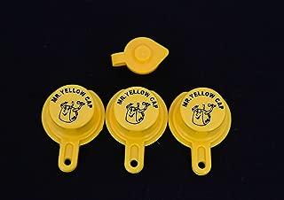 Yellow Gas Can Cap That Fits Your Vintage Blitz Spout - 3 Single Caps & 1 FREE Vent