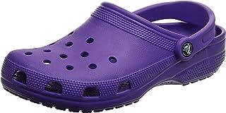 Crocs Unisex Classic Clog, Neon Purple, 7 UK Men/ 8 UK Women