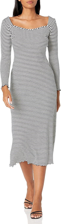 Maggy London Women's Long Sleeve,Square Neck Maxi Dress