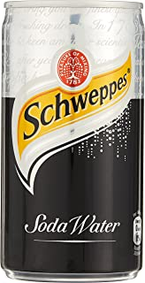 Schweppes Soda Water Mini Cans, 180 ml (Pack of 24)
