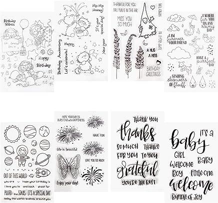 Mr.Better Clear Stamp Feuilles de Tampons Transparents en Silicone Transparent Joint pour DIY Scrapbooking Craft Carte Album Photo D/écoratifs