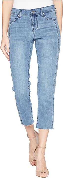 Bryce Crop w/ Embroidered Side Panel in Vintage Super Comfort Stretch Denim in Devonshire Bleach