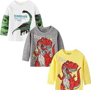 BIBNice Toddler Boys Crewneck Sweatershirt Kids Long Sleeve Top Cotton Outfit 18M-7T