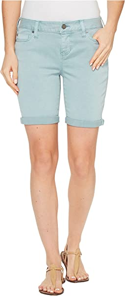 Corine Walking Shorts Rolled-Cuff in Stretch Peached Twill in Slate Blue