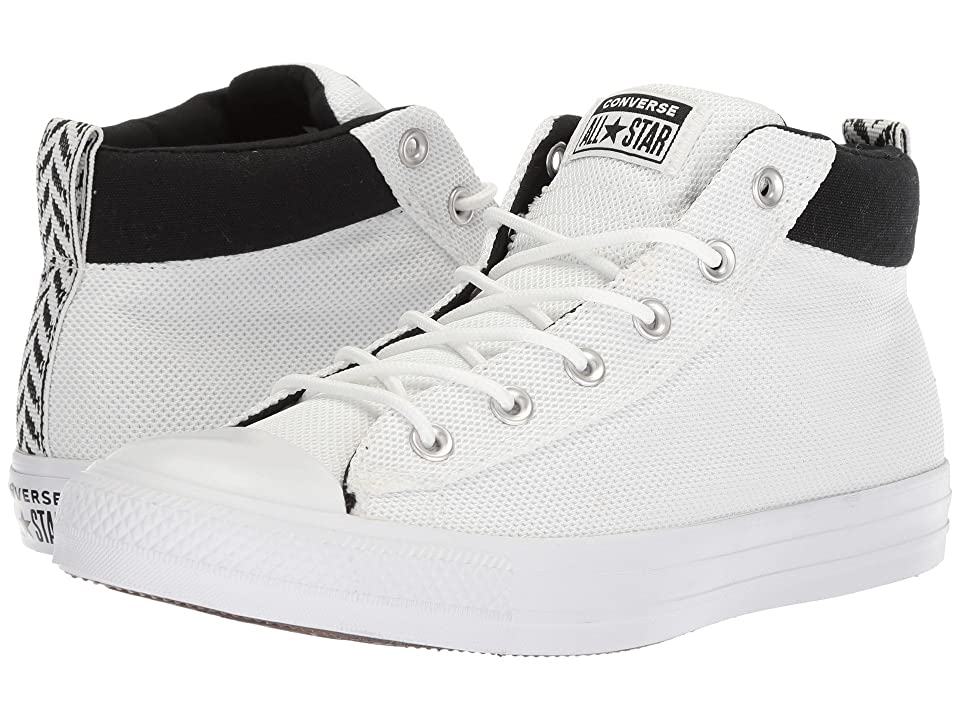 Converse Chuck Taylor All Star Street Mid (White/Black/White) Classic Shoes