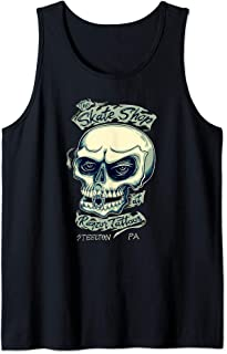 Tattoo Inspired Skateboard Shop Skull And Keystone Logo Tank Top