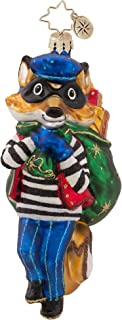 Christopher Radko Foxy Bandit Christmas Ornament
