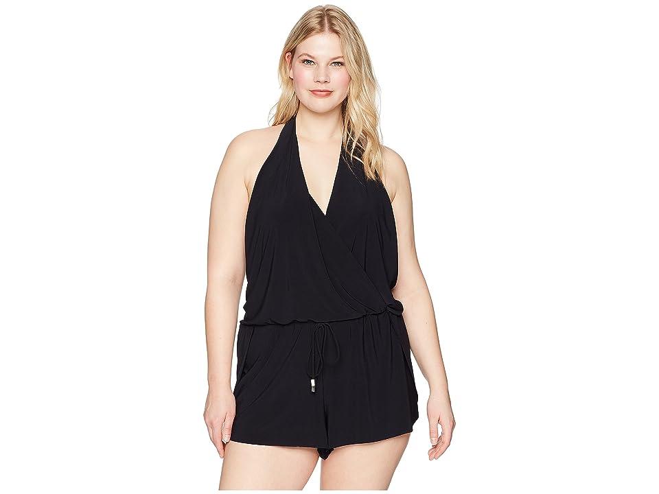 Magicsuit Plus Size Solid Bianca One-Piece (Black) Women