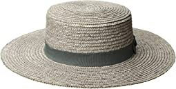 WSH1211 - Wheat Straw Boater with Grosgrain Trim