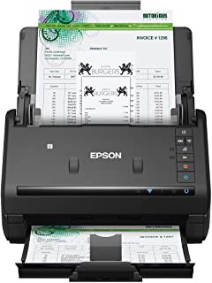 Epson Workforce ES-500WR Wireless Color Receipt Duplex Document Scanner Accounting Edition for PC and Mac, Auto Document F...