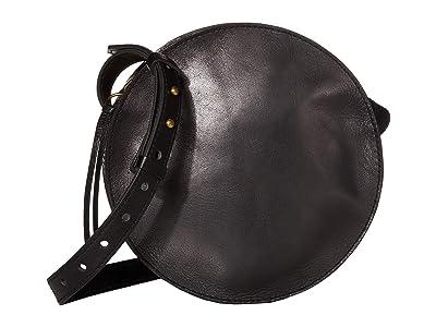 Madewell Simple Circle Crossbody (True Black) Handbags