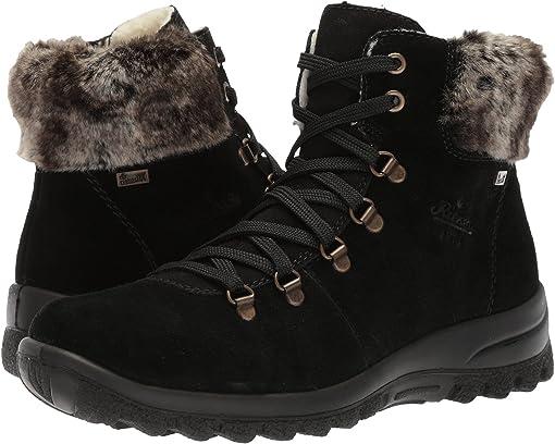 K3457-45 fumo//Asphalt//Wine//sc Rieker Women Ankle Boots Grey,