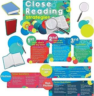 Edupress Close Reading Strategies Bulletin Board Set (EP60237), 11.5 x 16 Inches