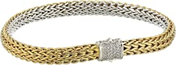 Classic Chain Diamond Pave Reversible Bracelet 6.5mm