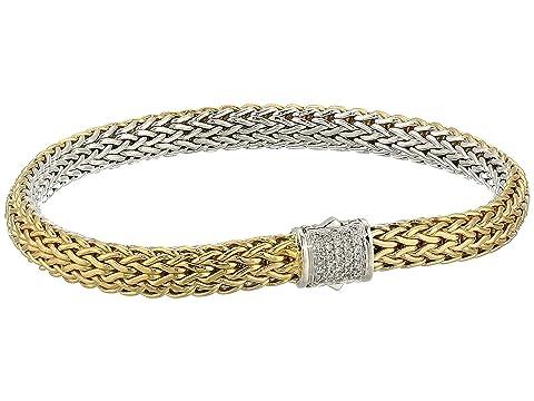 John Hardy Classic Chain Diamond Pave Reversible Bracelet 6.5mm