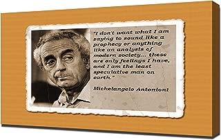 Michelangelo Antonioni Quotes 3 - Canvas Art Print