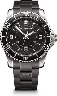 Victorinox - Hombre Maverick - Reloj cronógrafo de Cuarzo Suizo con Correa de Acero Inoxidable 241698