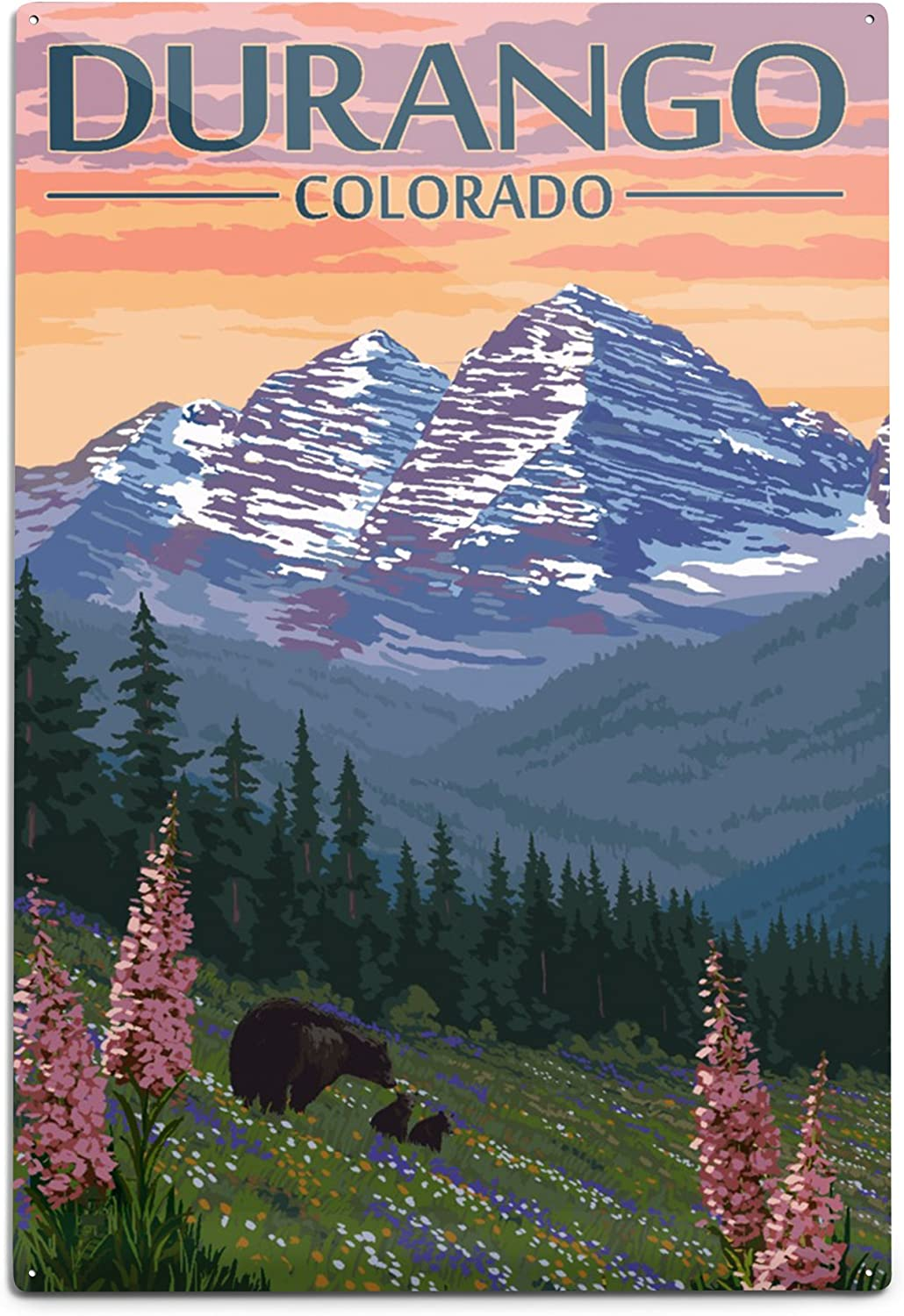 Lantern Some reservation Press Recommended Durango Colorado Bears and Flowers Spring 12x18
