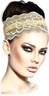 ShariRose Stunning Stretch Wide Floral Lace Head-Bands in Many Beautiful Colors Handmade