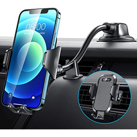 【Newest Shockproof 4.0】VANMASS Dashboard Phone Holder for Car【360° Widest View】9in Flexible Long Arm, Universal Handsfree Auto Windshield Air Vent Cell Phone Mount for Car & Truck & All Mobile Phones