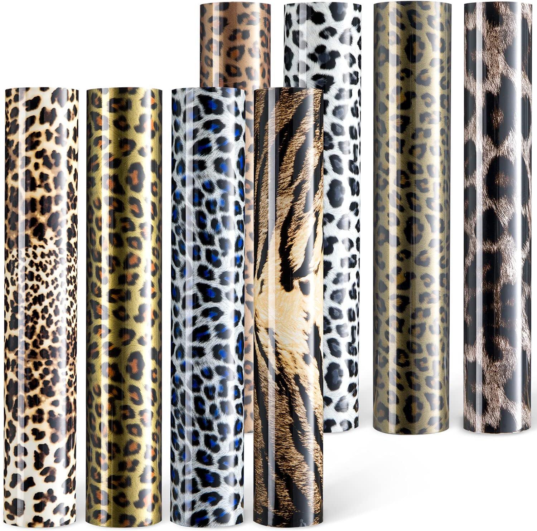 Ohuhu Leopard-Pattern Heat Transfer Vinyl Bombing new work Pack 8 Iron on Sheets Max 40% OFF