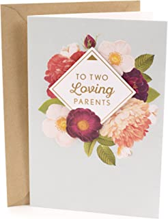 Hallmark Anniversary Greeting Card for Parents (Grateful For You Both)