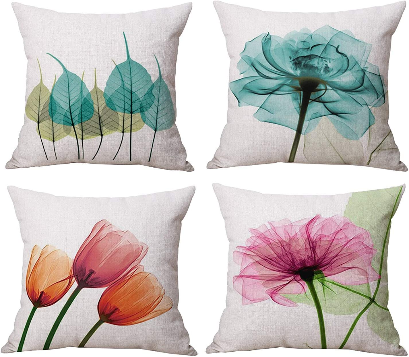 Watercolor Spring Summer Flower famous Throw Covers Discount is also underway Decorati Set Pillow