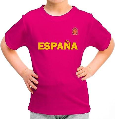 Lolapix Camiseta España Rosa Personalizada con Nombre y ...